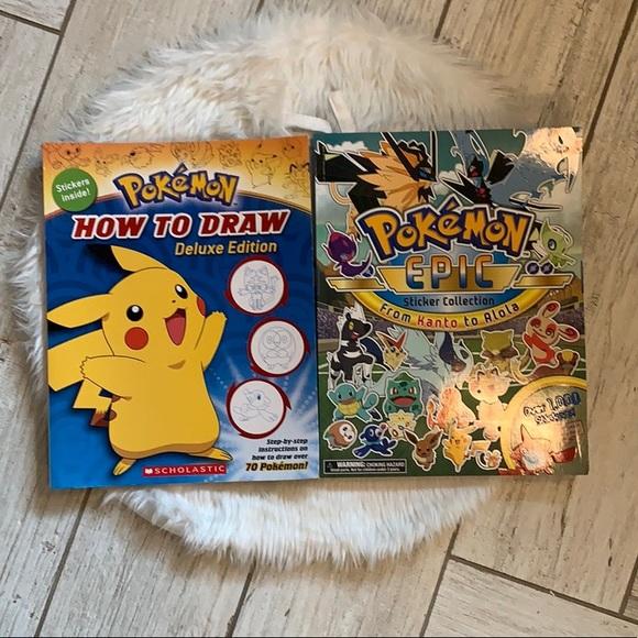 Pokémon sticker & drawing book